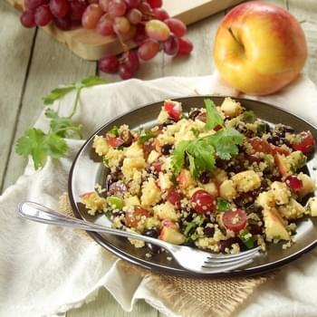 Quinoa Salad with Black Beans, Apples and Red Grapes + Broccoli, Love & Dark Chocolate Review