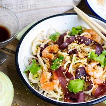 Kohlrabi, Prawn & Sesame Salad With Dulse