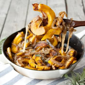 Caramelized Onion and Sage Roasted Squash