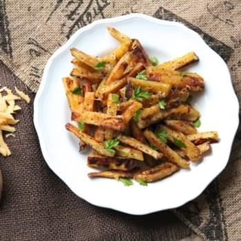 Spiced Sweet Potato Cheese Fries