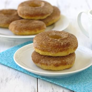Baked Maple Cinnamon Sugar Donuts