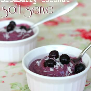 Blueberry Coconut Soft Serve {Paleo Ice Cream}