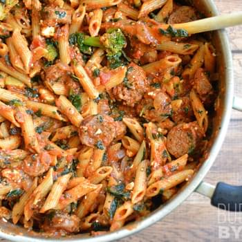 Penne Pasta with Sausage and Greens