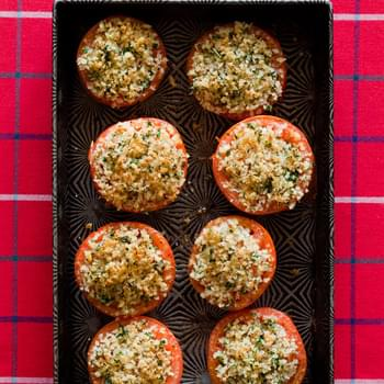 Herb and Panko Crusted Baked Tomatoes
