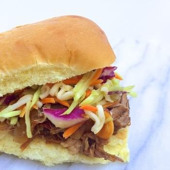 Tart Cherry Chinese BBQ Pulled Pork Sliders