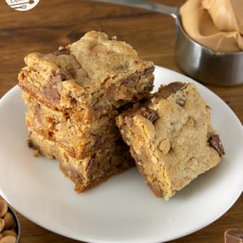 Peanut Butter Overload Cookie Bars