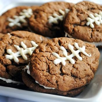 Chocolate Oatmeal Cream Pie Footballs