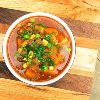 Bison Vegetable Soup