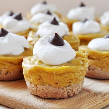 Mini Pumpkin Pies + Coconut Whipped Cream, Vegan+ Gluten-Free