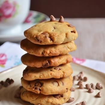 Egg less chocolate chip cookies recipe | Eggless choco chip cookies