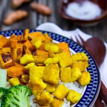 Anti-Inflammatory Rice Bowls with Turmeric Marinated Tofu