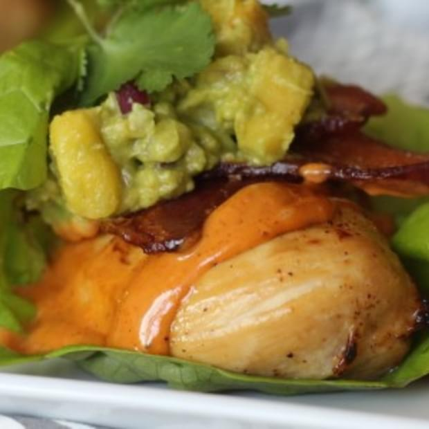 Fully Loaded Citrus Marinated Chicken Lettuce Wraps