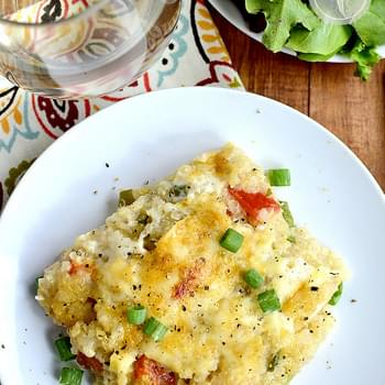 Creamy Cheesy Chicken and Garlic Quinoa Bake