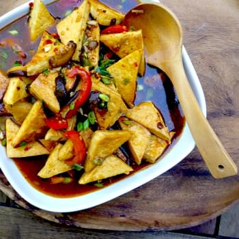 Pan Fried Tofu In 'fish' Fragrant Sauce