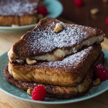 Mascarpone-Stuffed Chocolate Espresso French Toast