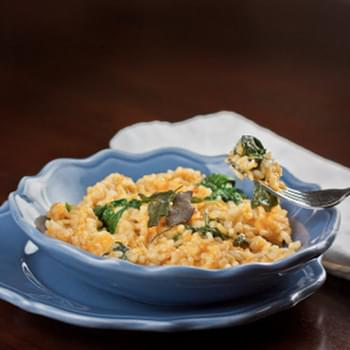 Pumpkin & Baby Spinach Risotto