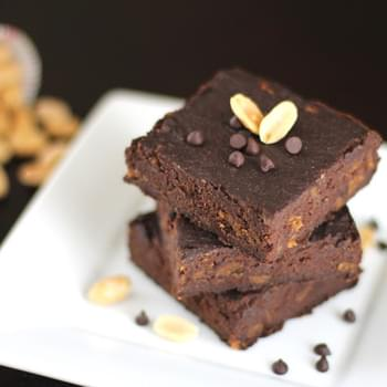 Peanut Butter Brownies with Peanut Butter Chips