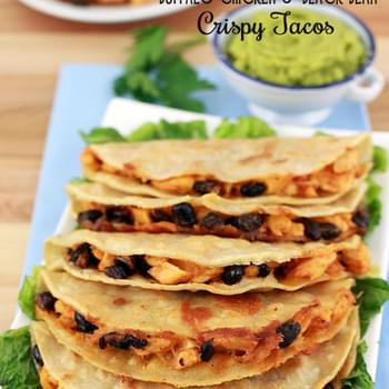 Buffalo Chicken and Black Bean Crispy Tacos