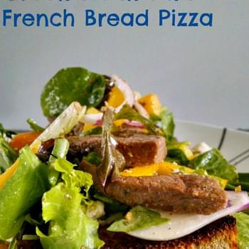 Greek Steak and Salad French Bread Pizza