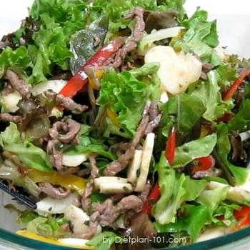 Asian Tamari Sauce Beef Salad (for Atkins Diet Phase 1)