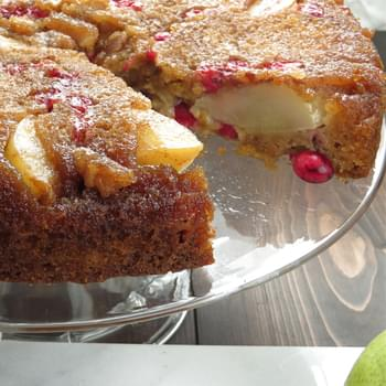 Pear And Cranberry Upside Down Cake