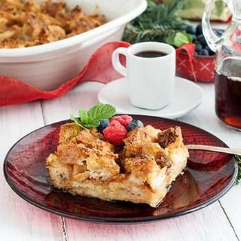 Gluten Free Baked Eggnog French Toast