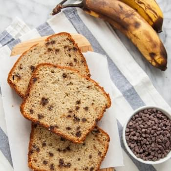 Brown Butter Banana Chocolate Chip Bread