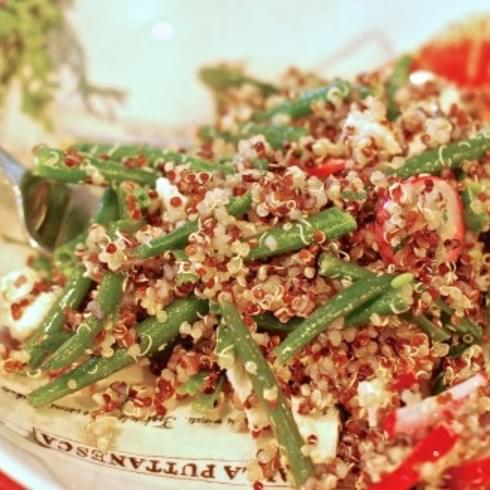 Green Bean & Radish Quinoa Salad