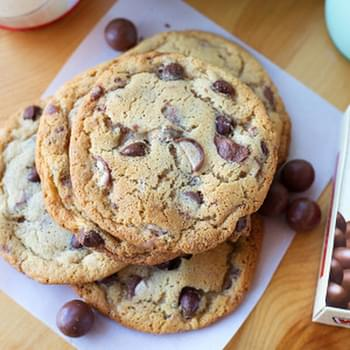 Malted Whopper and Toffee Chocolate Chip Cookies