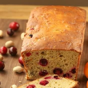 Cranberry Pistachio Bread {Low Fat, Vegetarian}