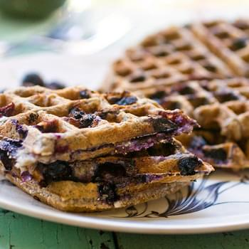 Blueberry Oatmeal Waffles