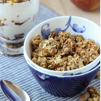 Honey Almond Chia Granola (gluten-free)