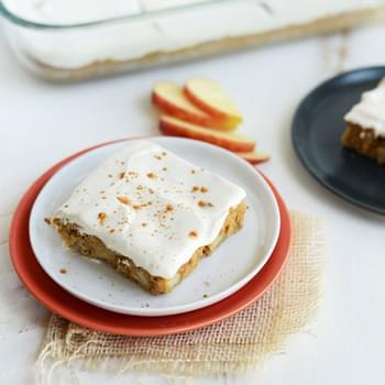 Gluten-Free Apple Cinnamon Bars with Skinny Maple Cream Cheese Frosting