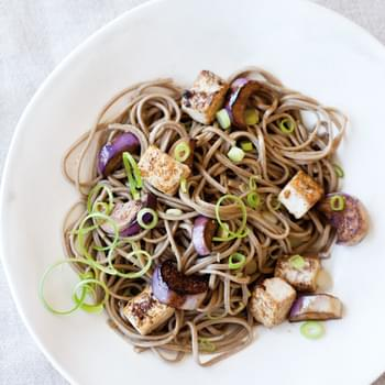 Soba Noodle Salad with Tofu and Marinated Eggplant