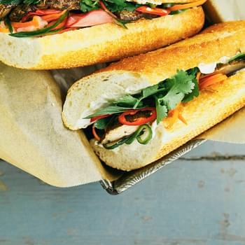 Portobello Banh Mi With Pickled Vegetables