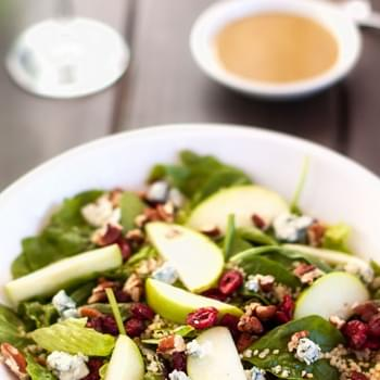 Quinoa Salad with Cranberries, Apple & Pecans