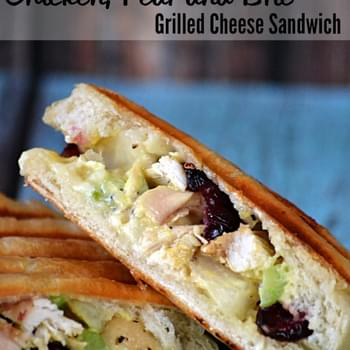 Chicken, Pear and Brie Grilled Cheese Sandwich