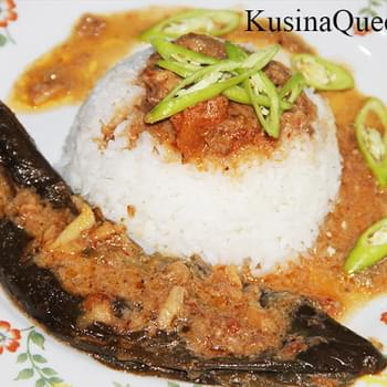 Eggplant in Coconut Milk and Shrimp Paste (Binagoongang Talong)