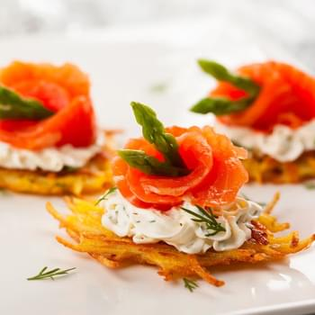 Smoked Salmon & Dill Sour Cream Latkes
