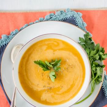 Fuji Apple and Butternut Squash Soup