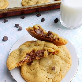 Nutella Stuffed Chocolate Chip Cookies For Two