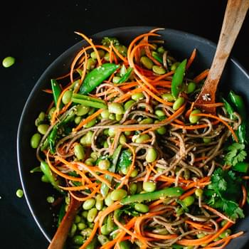 Sugar Snap Pea and Carrot Soba Noodles