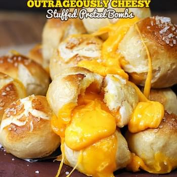 Outrageously Cheesy Pretzel Bombs