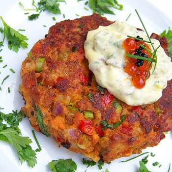 Pan-Fried Salmon Cakes, Sauce Remoulade