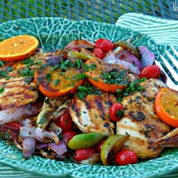 Mojo Chicken Breast with Grilled Citrus