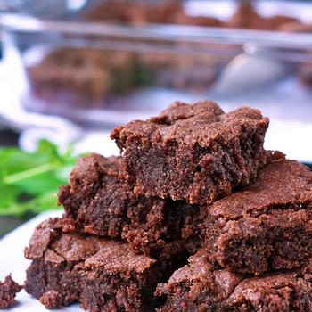 Chocolate Mint Brownies (Gluten Free, Dairy Free, Vegan)