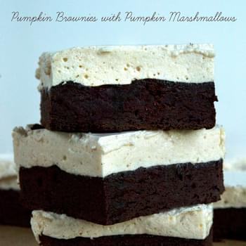 Gluten Free Pumpkin Brownies with Pumpkin Spice Marshmallows
