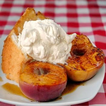 Rum Marinated Grilled Peaches
