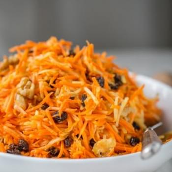 Carrot Apple and Walnut Salad