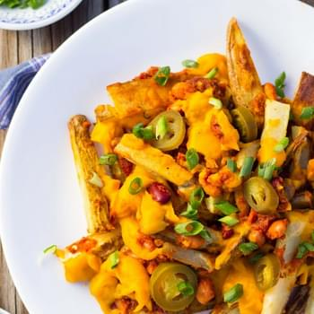 Vegan Chili Cheese Fries